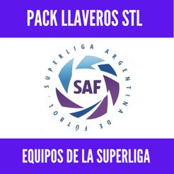 Download 3D printing models Llaveros Superliga Argentina - Pack de llaveros bicapa, MartinAonL