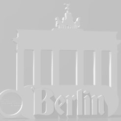 Download STL file Berlin key chain (Brandenburg Gate Monument) • 3D print object, MartinAonL