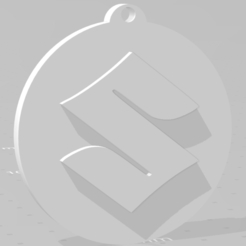 descarga (90).png Télécharger fichier STL Llavero de Suzuki - Porte-clés Suzuki • Design imprimable en 3D, MartinAonL