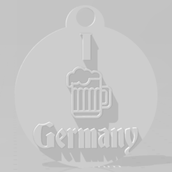 Download 3D printing models I love Germany key chain, MartinAonL