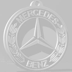 descarga (78).png Télécharger fichier STL Llavero de Mercedes Benz - Porte-clés Mercedes Benz • Objet imprimable en 3D, MartinAonL