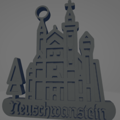descarga - 2021-01-05T110710.520.png Download STL file Neuschwanstein Castle keychain • Object to 3D print, MartinAonL