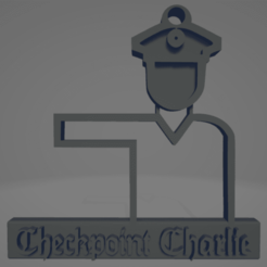 descarga - 2021-01-05T112300.585.png Download STL file Checkpoint Charlie keychain • 3D printer object, MartinAonL