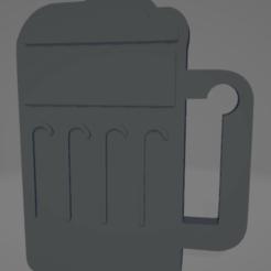 descarga - 2021-01-05T114421.953.png Download STL file Beer mug keychain • Object to 3D print, MartinAonL