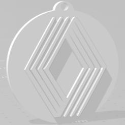 descarga (86).png Download STL file Llavero de Renault (logo viejo) - Renault keychain (old logo) • 3D printable template, MartinAonL