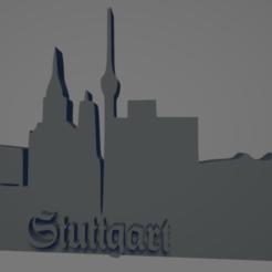 descarga - 2021-01-05T144236.912.png Download STL file Stuttgart city keychain (silhouette) • Template to 3D print, MartinAonL