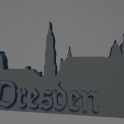descarga - 2021-01-05T112602.145.png Download STL file Dresden city keychain (silhouette) • 3D print design, MartinAonL