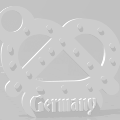 Download 3D printer files Germany key chain - Pretzel, MartinAonL