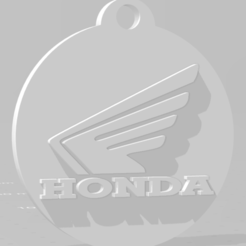 descarga (69).png Download STL file Llavero de Honda (motos) - Honda Keychain (motorcycles) • 3D print object, MartinAonL