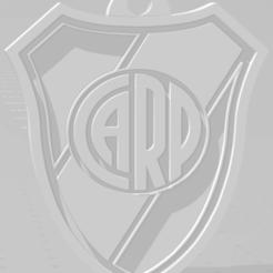 descarga (19).png Download STL file Llavero del escudo de River Plate • 3D print model, MartinAonL