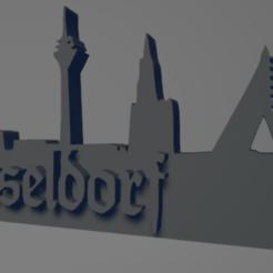 descarga - 2021-01-05T112850.952.png Download STL file Düsseldorf city keychain (silhouette) • 3D printable template, MartinAonL
