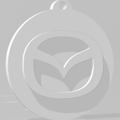descarga (76).png Télécharger fichier STL Llavero de Mazda - Porte-clés Mazda • Plan imprimable en 3D, MartinAonL