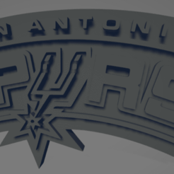 descarga - 2020-12-22T184856.261.png Download STL file San Antonio Spurs keychain • Object to 3D print, MartinAonL