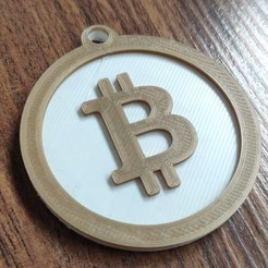 Bitcoin final.jpg Download STL file Bitcoin key chain - Llavero de Bitcoin • 3D printer template, MartinAonL