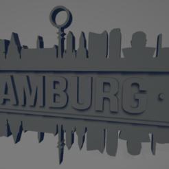 descarga - 2021-01-05T142148.255.png Download STL file Hamburg city (silhouette) • 3D print template, MartinAonL