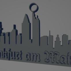 descarga - 2021-01-05T113558.858.png Download STL file Frankfurt city keychain (silhouette) • 3D printable model, MartinAonL