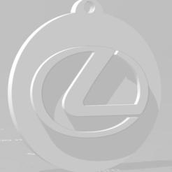 descarga (75).png Télécharger fichier STL Llavero de Lexus - Porte-clés Lexus • Modèle imprimable en 3D, MartinAonL