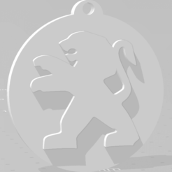 descarga (83).png Download STL file Llavero de Peugeot - Peugeot keychain • 3D printable template, MartinAonL