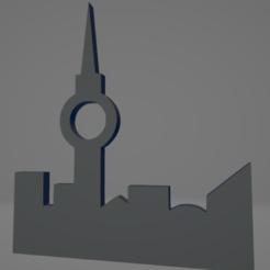 descarga - 2021-01-05T111650.134.png Download STL file Berlin TV Tower keychain • 3D printable model, MartinAonL