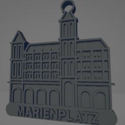 descarga - 2021-01-05T110001.447.png Download STL file Marienplatz keychain • 3D print object, MartinAonL
