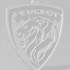 descarga (84).png Download STL file Llavero de Peugeot (logo viejo) - Peugeot keychain (old logo) • Design to 3D print, MartinAonL