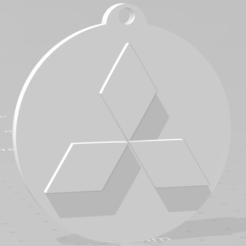 descarga (80).png Télécharger fichier STL Llavero de Mitsubishi - Porte-clés Mitsubishi • Modèle imprimable en 3D, MartinAonL