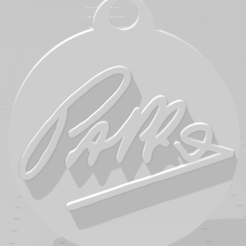 Download 3D printer files Llavero con la firma de Pappo, MartinAonL