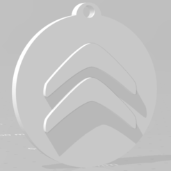 descarga (61).png Download STL file Llavero de Citroën - Citroën keychain • 3D printable template, MartinAonL