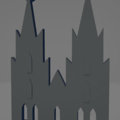 descarga - 2021-01-05T143713.138.png Download STL file Köln cathedral keychain • Template to 3D print, MartinAonL