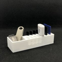 Download free STL file flash-sd-micro sd cards holder • 3D printable model, 3d4life