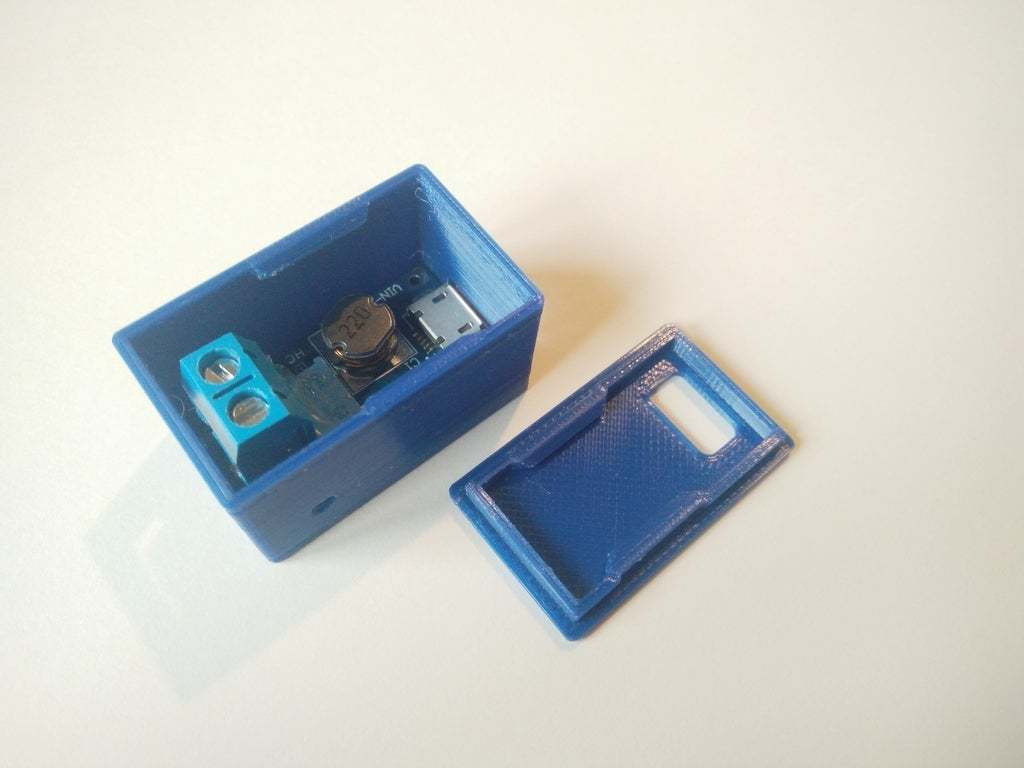 IMG_20200313_165535.jpg Télécharger fichier STL gratuit Boîtier Snapfit pour le module d'amplification réglable DC-DC MT3608 avec micro USB • Plan pour impression 3D, SimonSeghers