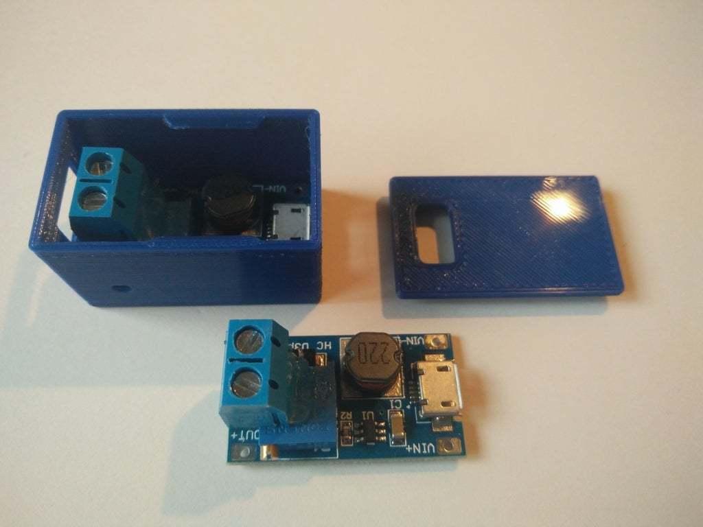 IMG_20200313_170902.jpg Télécharger fichier STL gratuit Boîtier Snapfit pour le module d'amplification réglable DC-DC MT3608 avec micro USB • Plan pour impression 3D, SimonSeghers
