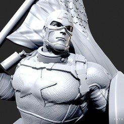 300520 - Wicked - Captain America 04.jpg Download STL file Wicked Marvel Avengers Captain America 3d Sculpture: STL ready for printing • Design to 3D print, Wicked