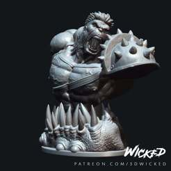 Wicked_Planet_Hulk_bust_wax_01.jpg Download free STL file Wicked Marvel Hulk 3d Bust: Avengers STL ready for printing • Template to 3D print, Wicked