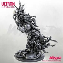 112320 Wicked - Ultron 01.jpg Télécharger fichier STL Sculpture d'Ultron de Wicked Marvel : Les STL sont prêtes à être imprimées • Plan imprimable en 3D, Wicked