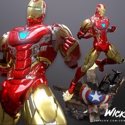 280620 Wicked - Iron man 016.jpg Download STL file Wicked Marvel Avengers Iron man 3d Sculpture: STL ready for printing • Object to 3D print, Wicked