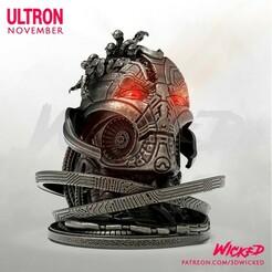 221120 Wicked - Ultron Bust squared 01.jpg Télécharger fichier STL Buste de l'Ultron de Wicked Marvel : les STL sont prêtes à être imprimées • Design à imprimer en 3D, Wicked