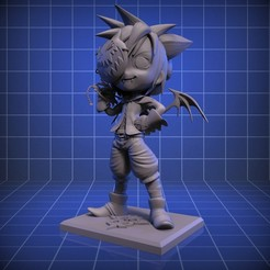 Descargar archivo 3D Fan Art Kindom Hearts Nightmare Sora, RedBushido