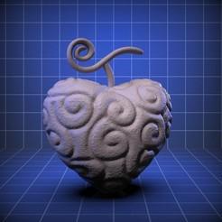 Descargar diseños 3D Ope Ope No Mi Trafalgar Law´s Fruit One Piece Devil´s Fruit, RedBushido
