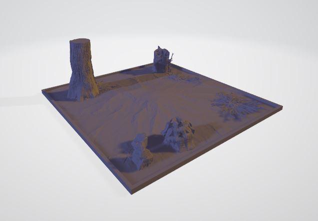 diorama_completo.JPG Télécharger fichier STL gratuit Diorama de la forêt • Plan à imprimer en 3D, JPool