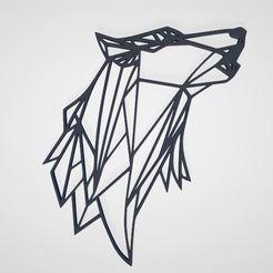 Imagen_lobo.JPG Download STL file Wolf Wallpaper • 3D printer object, JPool