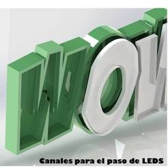 CANALES.jpg Download STL file LED DESK LAMP • 3D print template, Printe3D