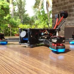 20200602_091243.jpg Download STL file Cidora  FPV Frame Arm Skid/Motor guard • 3D printable model, Indraneel