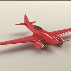 Download GCODE file DH 88 Comet Plane • 3D printable design, Indraneel