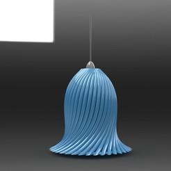 Imprimir en 3D Lámpara espiral colgante, Indraneel
