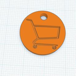 Télécharger modèle 3D gratuit pièce de monnaie pour chariot de supermarché, izombie16