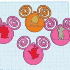 Download 3D printing templates disney studio monsters inc ornaments , izombie16