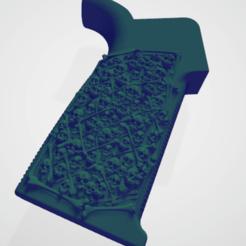 Untitled.png Download OBJ file Skull AR grip • 3D printable design, sewallman