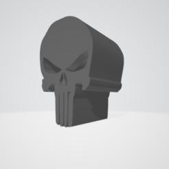 Untitled.png Télécharger fichier OBJ gratuit Le crâne du punisseur est libéré • Modèle imprimable en 3D, sewallman