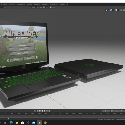Télécharger fichier STL gratuit hp pavilion gaming laptop 15-cx0001 • Objet pour impression 3D, nefM24